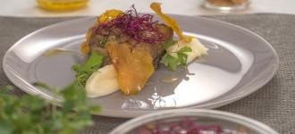Bacalao al horno marinado con soja